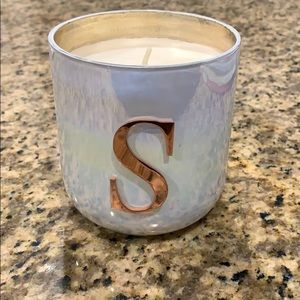 New Anthropologie initial S candle.